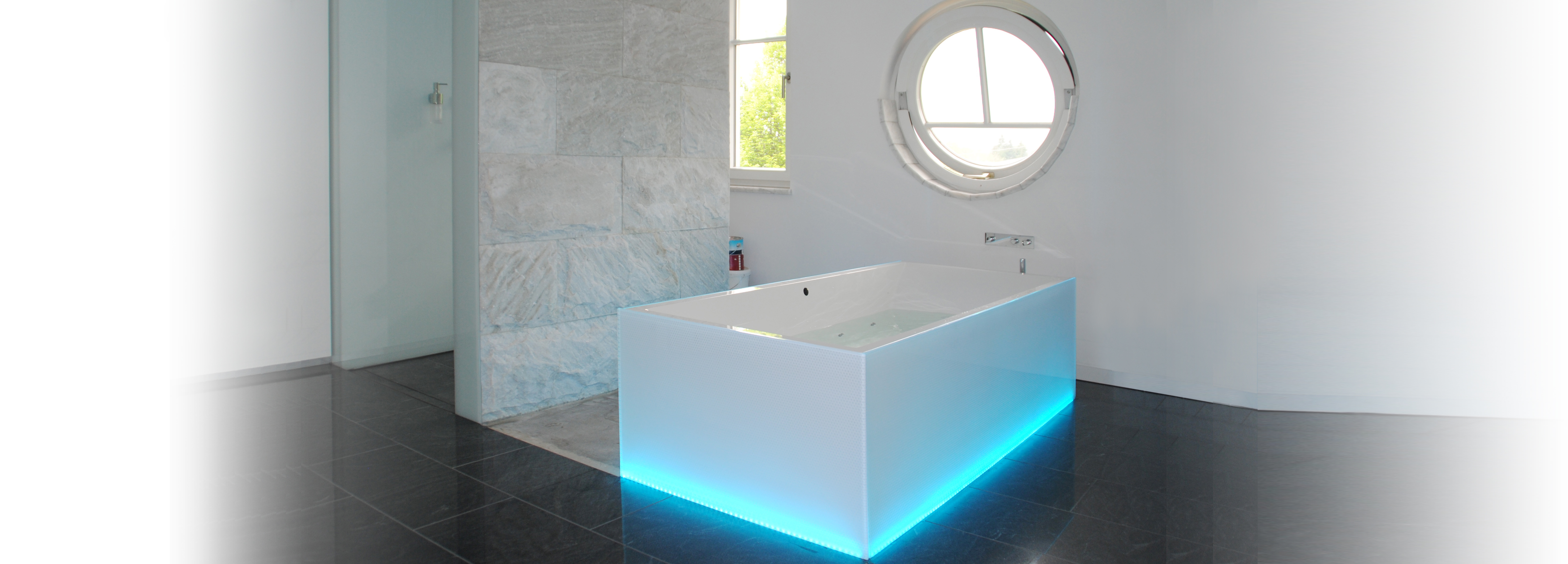 Badezimmer Glas